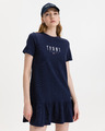 Tommy Jeans Logo Peplum Dress
